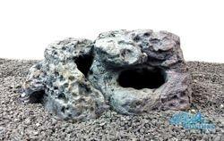 Limestone rock hide for fish - small size