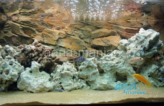3D beige rock background 97x36cm