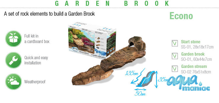 Garden brook - 3 elements plus water pump