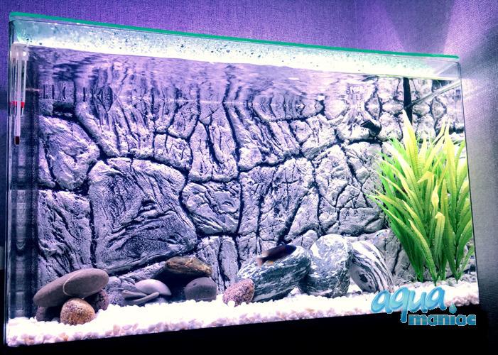 JUWEL RIO 125 3D thin grey rock background 78x42cm