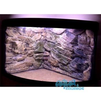 JUWEL Trigon 350 3D beige rock background in 2 sections