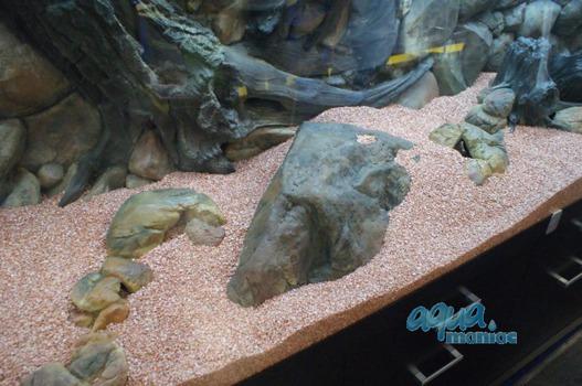 Large aquarium boulder empty inside