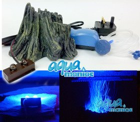 Small Root Volcano with Blue LED lights and air pump