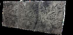 3D Foam Rock Grey Background Modules size 150x65cm