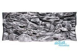 JUWEL Vision 260 3D grey rock background 117x54cm in 2 sections