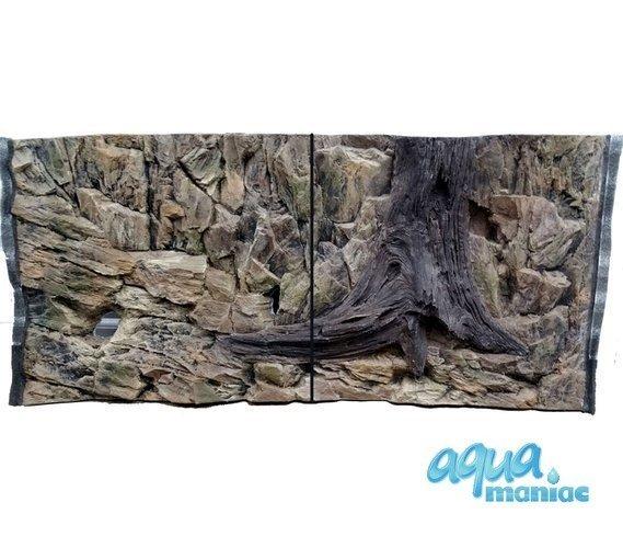 3D Background Rock Root With Vent 106x56cm to fit Aqua Oak 120 Aquarium