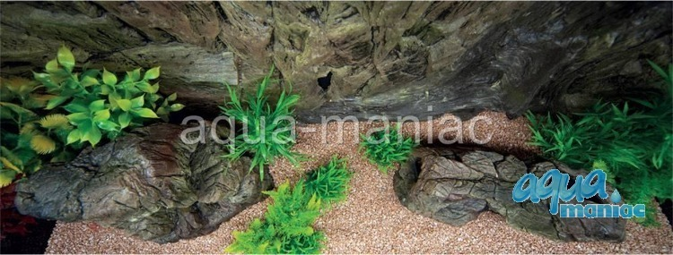 3D Background Rock Root With Vent 178x58cm in 3 section to fit 6 foot by 2 foot tanks