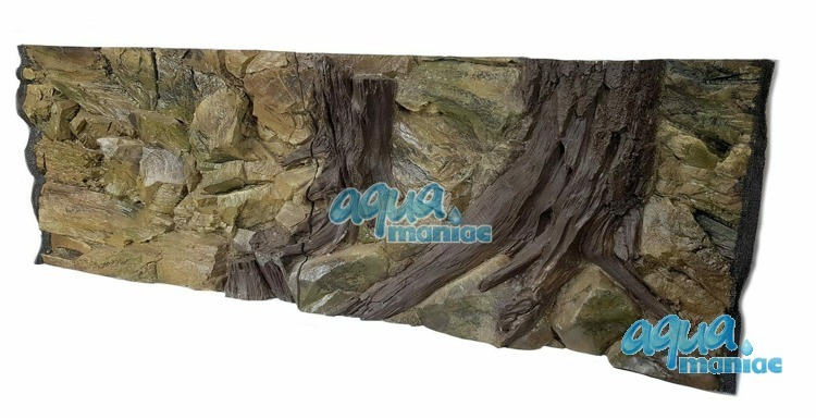 3D Root Background 209x56cm in 4 section to fit 7 foot by 2 foot tanks