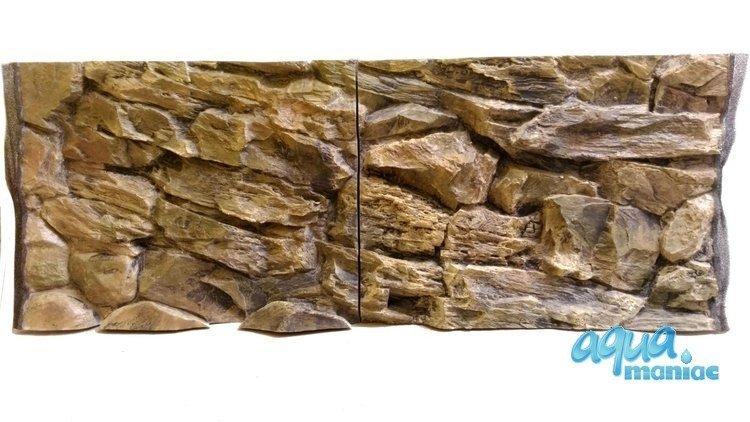 3D beige rock background 77x54cm to fit Aqua One 145 fish tank