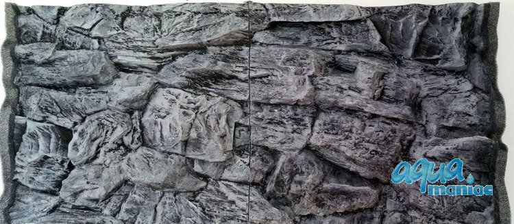 3D grey rock background 100x58cm in 2 sections