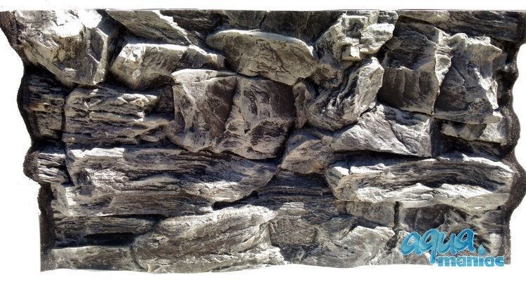 3D grey rock background 57x56cm  to fit 2 foot by 2 foot tanks