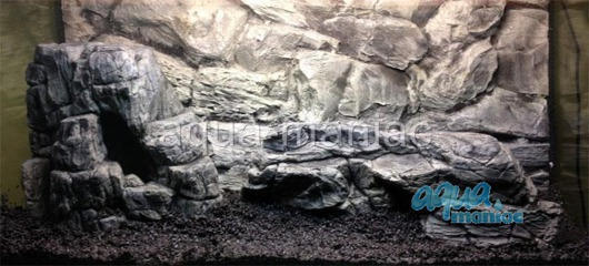 3D grey rock background 97x54cm