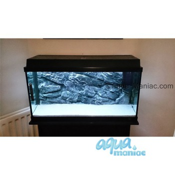 Fluval Roma 90 grey rock background 58x40cm 1 section