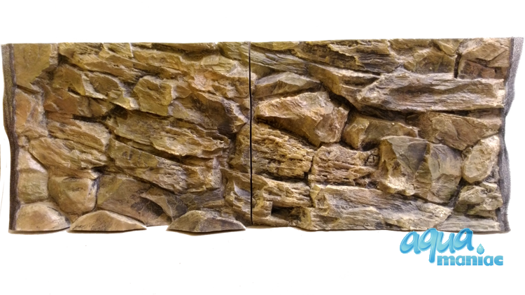 Fluval Vicenza 180 beige rock background 88x46cm 2 sections