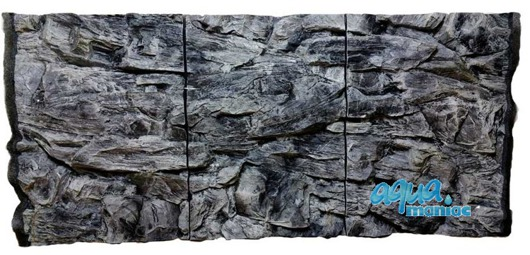 JUWEL RIO 300 3D grey rock background 118x57cm in 3 sections