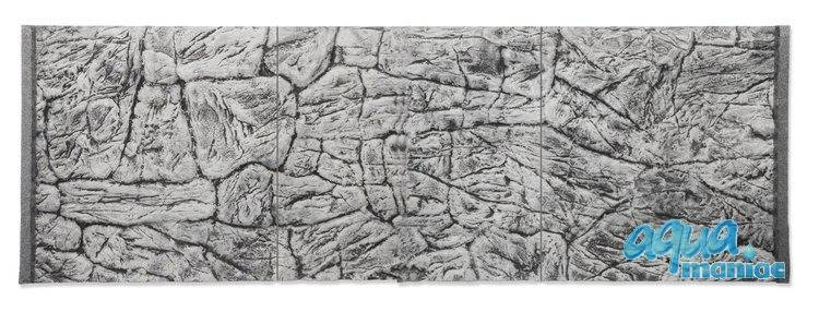 JUWEL RIO 350 3D thin grey rock background 116x57cm in 3 sections