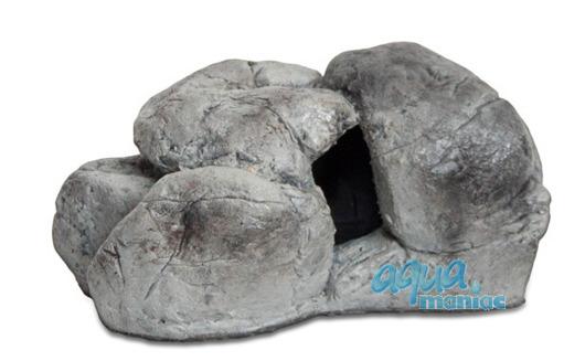 Mini aquarium stone in grey colour