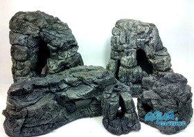 Bundle of 5 grey aquarium rocks - SAVE  £15