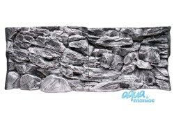 Fluval Roma 240 grey rock background 117x45cm 2 sections
