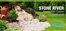 Stone River for garden - water feature